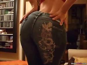 Hot wife Jenna gets naked and fucks hubby