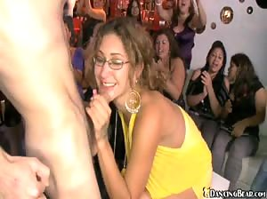 Bunch of horny women at a wild stripper party