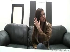 Skinny teen Tria fucked and facialized