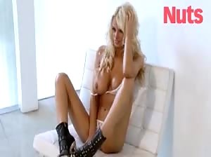 Rhian Sugden topless for Nuts
