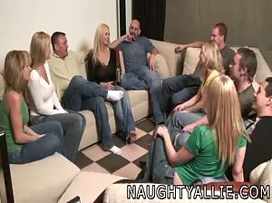 Party game leading to a huge orgy