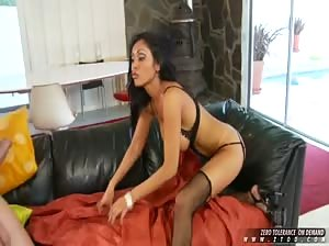 Busty Exotic babe pounded and facialized