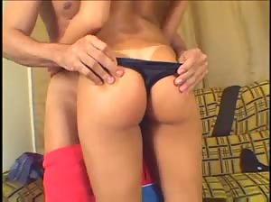 Hot Brazilian babe with a great ass anally fucked