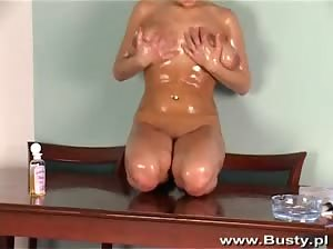 Polish babe Iva nude and oiled up - Part 2