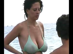 Fucking hot MILF in a see through bikini