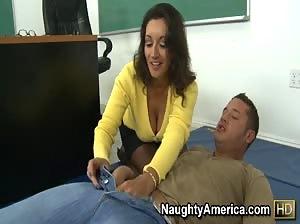 Professor Persia Monir gets pounded on her desk