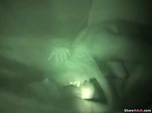 Night camping couple fuck