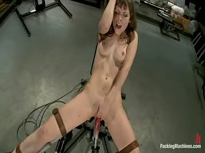 Seda fucked in the ass by a nasty fucking machine