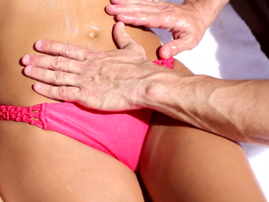 Poolside babe Anissa Kate banged by the water