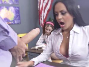 Mammoth dick fucks student Kimberly Kendall on the teachers desk