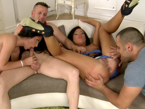 Vivien Bell and Maria Fiori in a hot Euro threesome