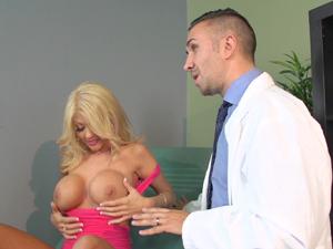 Busty wife Kayla Kayden fucks doctor for her husband