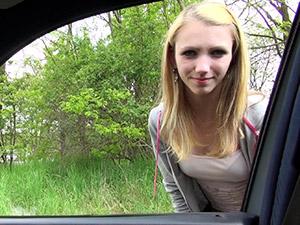 Beatrix Glower - Stranded Teen Slut Gets Fucked