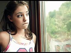 Cutie teen girl in pink panties