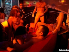 Club sluts fuck in public