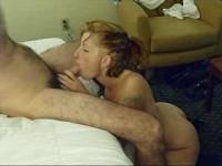 Hot amateur giving a great blowjob
