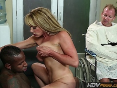 Blonde MILF Brianna Brooks fucked by BBC while sissy cuckold watches