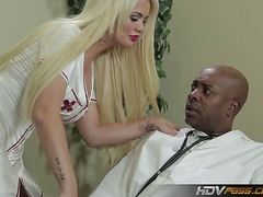 Blonde babe Alexis Ford Gets Pounded by Big Black Cock