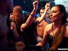 Bisexual sluts fuck in public
