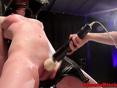 BDSM lezdom domina punishing her sub