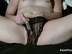 Babe Makes Herself Squirt and Masturbates to Stringy Wet Pulsating Orgasms