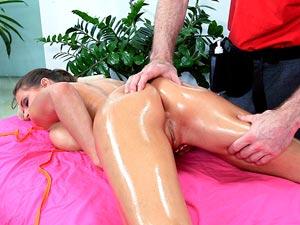 Sexy Brunette Massaged And Fucked Hardcore