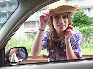 Dirty girl Dillion Carter fucks her pick up