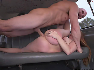 Montana Joleigh getting fucked on the Bangbus