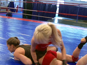 Ashley, Alexa Wild in NudeFightClub presents Ashley vs Alexa Wild