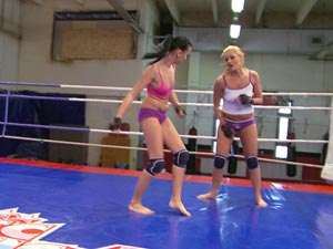 Becky Stevens, Barbie Black in Nude Fight Club presents Becky Stevens vs Barbie Black
