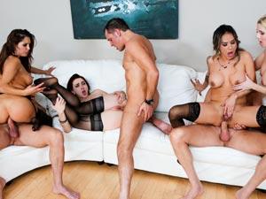 Nadia Styles,AJ Applegate,Christie Stevens,Francesca Le,Mandy Muse in Anal Swinger Orgy - Scene #01