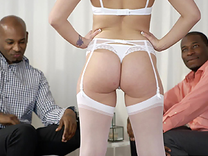 BLACKED Dakota James takes these two huge black cocks