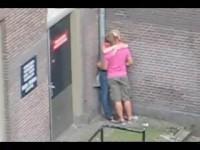 Street fucking in Amsterdam