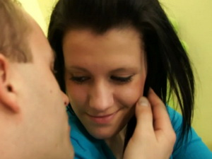 Amateur teen girl licked and pumped