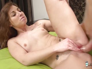 La Cochonne - French newbie eats cum in hot anal debut