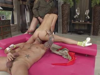Tina Hot is double fucked by two horny dicks