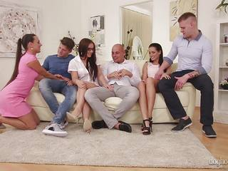 Pussy ass orgy with kinky babes Mea Melone, Shara Jones and Kari