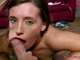 Slobbering Jamie Jackson on hard cock