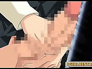 Shemale hentai bigcock self masturbating in the toilet