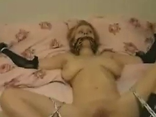 Hot Chick Tied Down and fucked