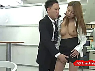 Office Lady Sucks and Gets Fingered