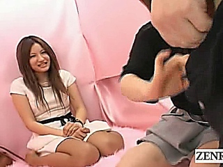 Subtitled CFNM Japanese interview surprise penis exam