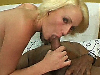 Petite blonde gets boned by big black guy