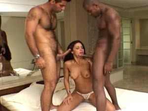 Maria's First Interracial Threesome