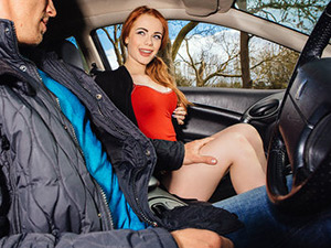 Ella Hughes & Luke Hardy - British Redhead Sucks Cock