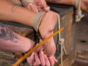 Stunning Tattooed Babe Made to Endure Torment in Brutal Bondage