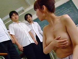 Hot Asian teacher using her students for sex