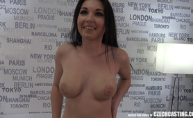 Seductive Busty Mother Nikola Plays with Agents Cock
