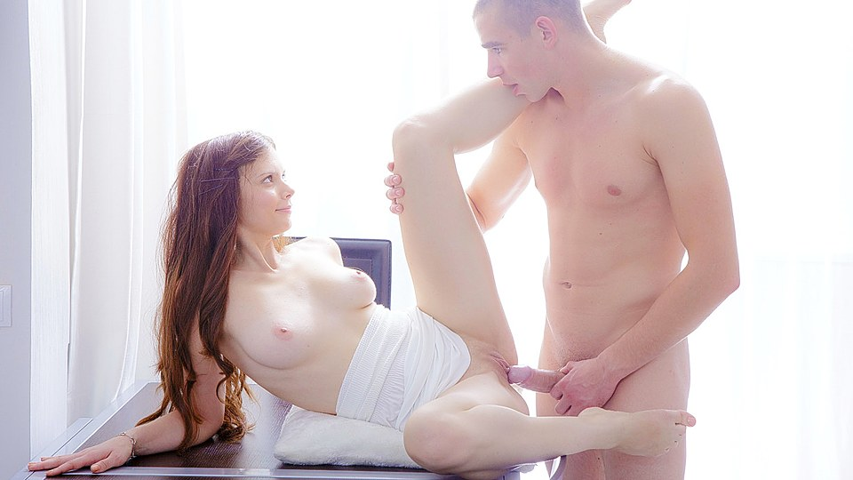 Mary in beautiful couple making love