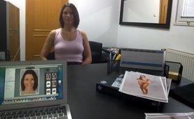 Brunette Czech Chick Wants to be Profi Model